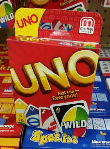 Uno card game mentioned in Brain Fuzz podcast episode 1.