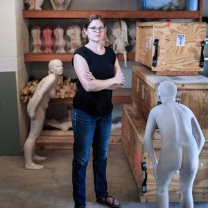 Christina West in her studio