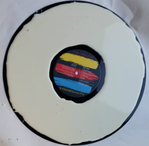 Wood glue on a vinyl record