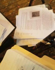 Brain Fuzz arts podcast paperwork