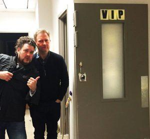 Brain Fuzz co-host Matthew with painter Craig Drennen