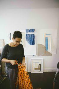 Krista Clark in her studio - photo by Chris Burden
