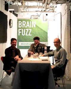 Fredrik Brauer and the Brain Fuzz Arts Podcast co-hosts