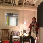 Jill Frank in the Brain Fuzz studio at The Temporary Art Center in Atlanta