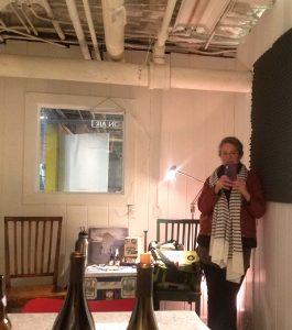 Jill Frank in the Brain Fuzz studio at The Temporary Art Center in Atlanta